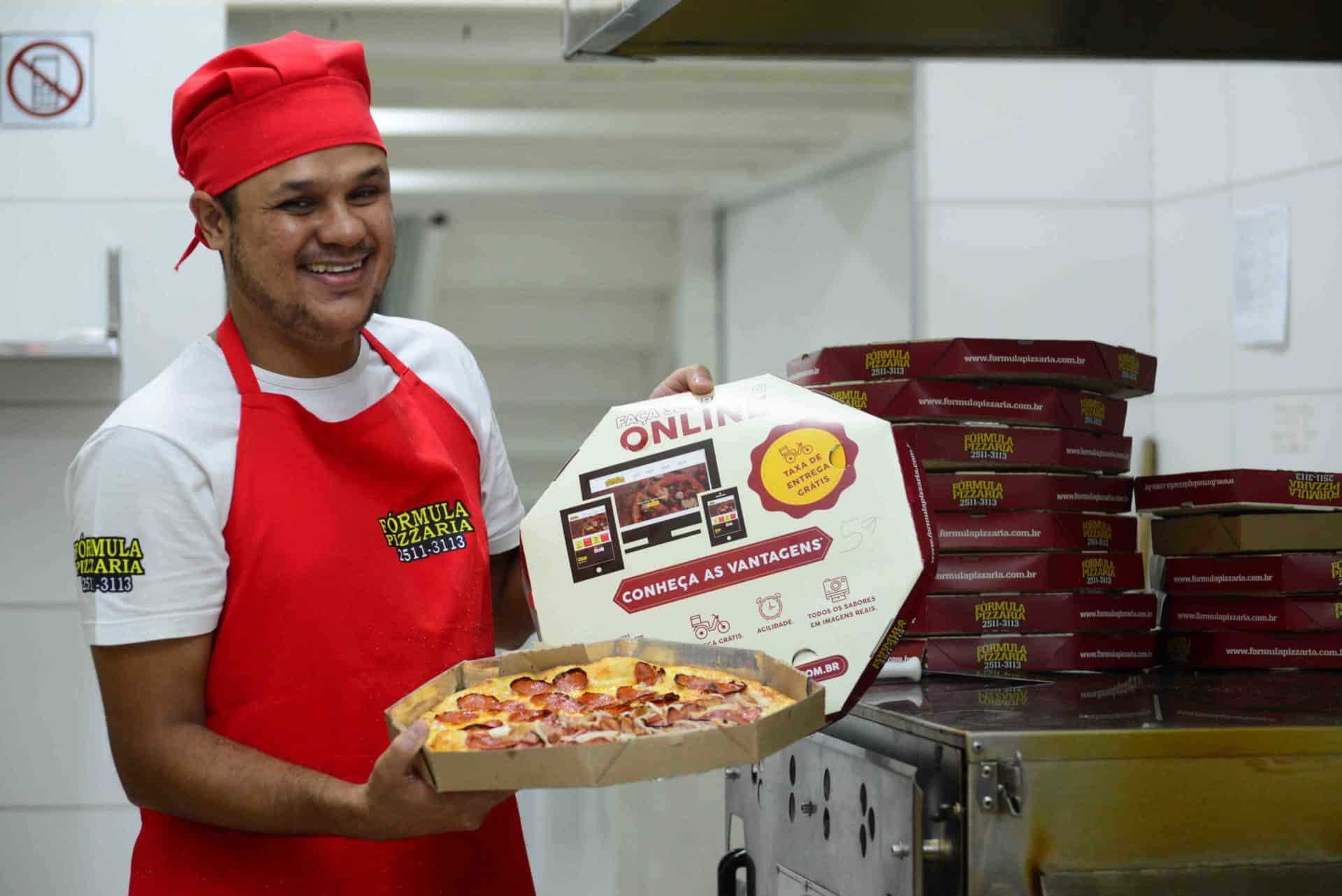 Comer bem e barato com a Fórmula Pizzaria, está entre as 8 Franquias Baratas para começar um negócio