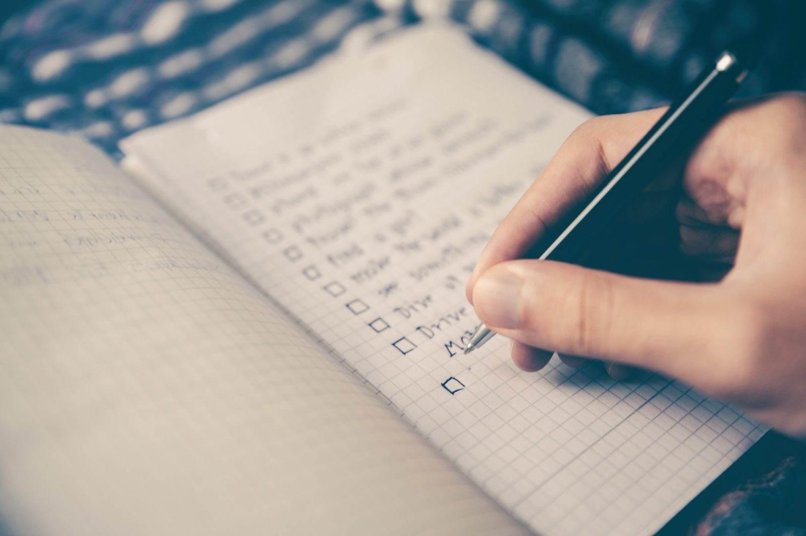 Escreva e defina prioridades